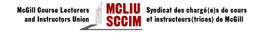 MCLIU McGill Course Lecturers & Instructors Union